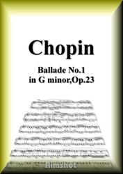 ショパン バラード第1番 Op.23 ピアノ・ソロ