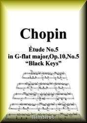 ショパン 黒鍵のエチュード Op.10 No.5 ピアノ・ソロ