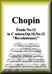 ショパン 革命のエチュード Op.10 No.12 ピアノ・ソロ