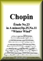 ショパン 木枯らし Op.25 No.11 ピアノ・ソロ