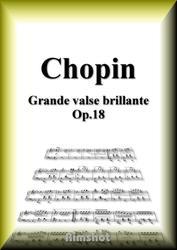ショパン 華麗なる大円舞曲 Op.18 ピアノ・ソロ