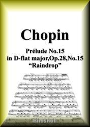 ショパン 雨だれの前奏曲 Op.28 No.15 ピアノ・ソロ