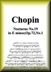 ショパン ノクターン第19番 ホ短調 Op.72 No.1 ピアノ・ソロ
