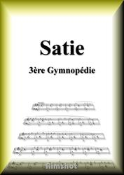 サティ ジムノペディ第3番 ピアノ・ソロ